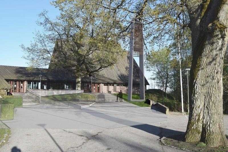 Jeløy kirke klokketårn